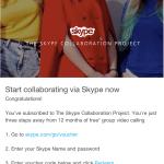 ingyen Skype premium egy évig