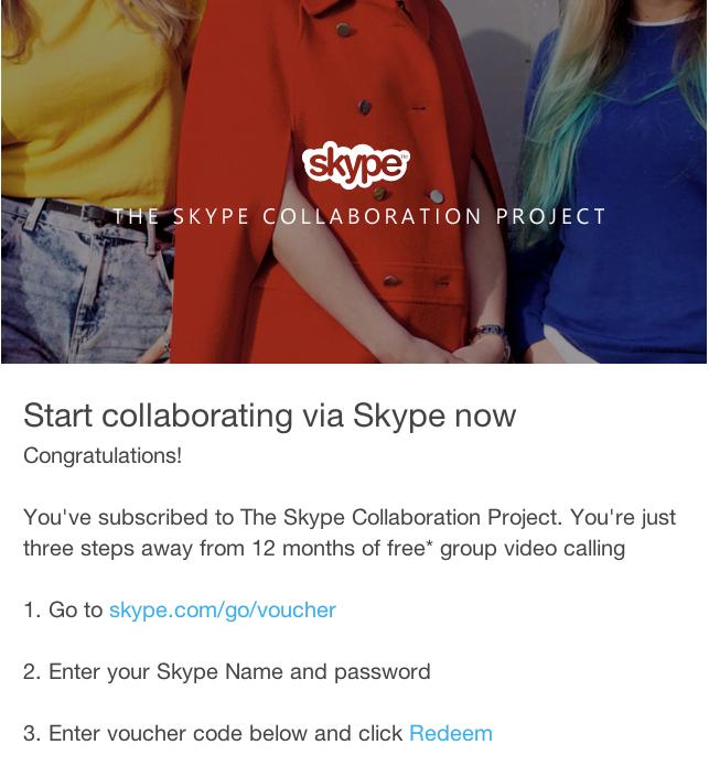 Skype voucher premium