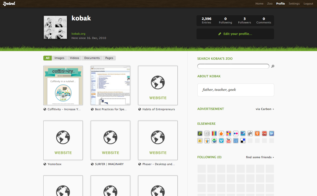 kobak on Zootool
