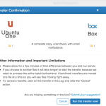 süllyedő hajó – ubuntu one