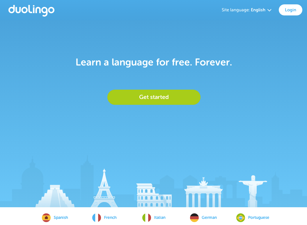Learn languages free, forever