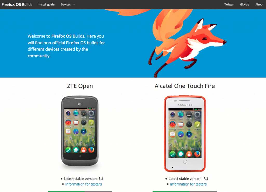 firefoxosbuilds, alcatel one Touch Fire 1.3