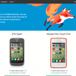 1.3+ Firefox OS Alcatel One Touch Fire telefonra