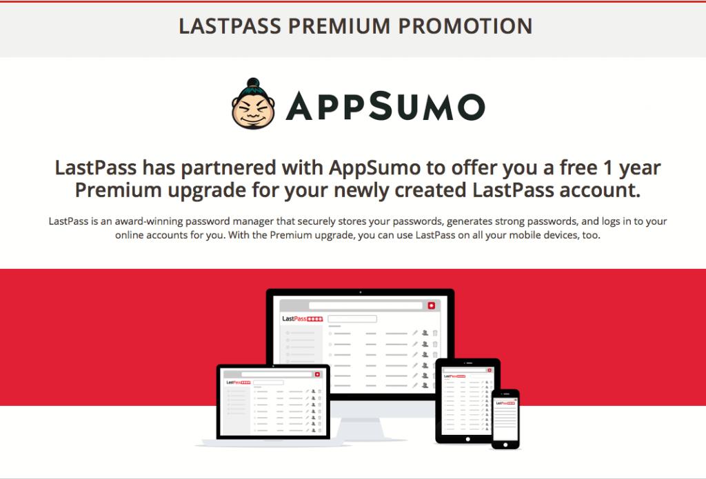 LastPass Premium 1 year free